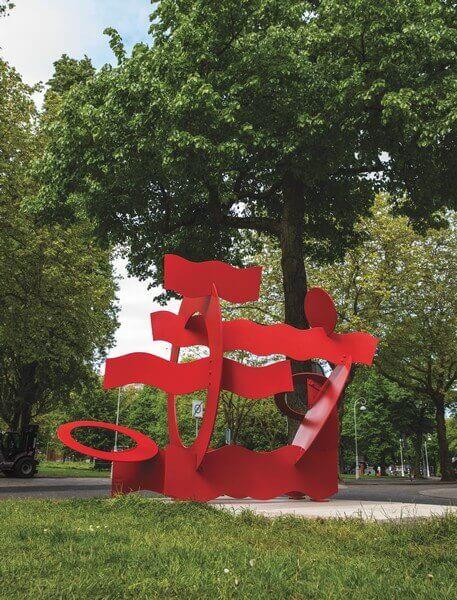 Hans van de Bovenkamp - Red Circles & Waves